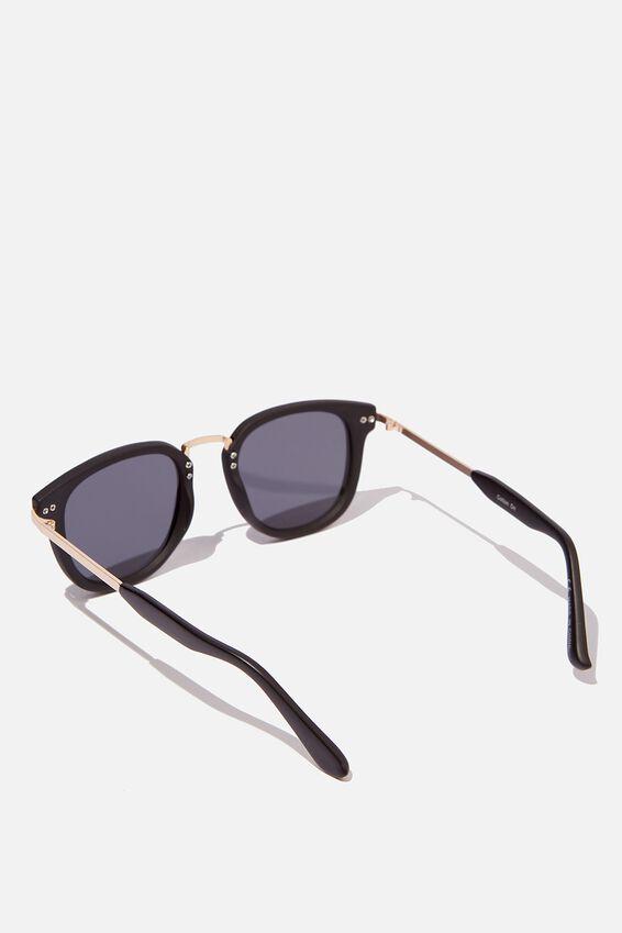 Highton Sunglasses, BLACK/GOLD/SMOKE
