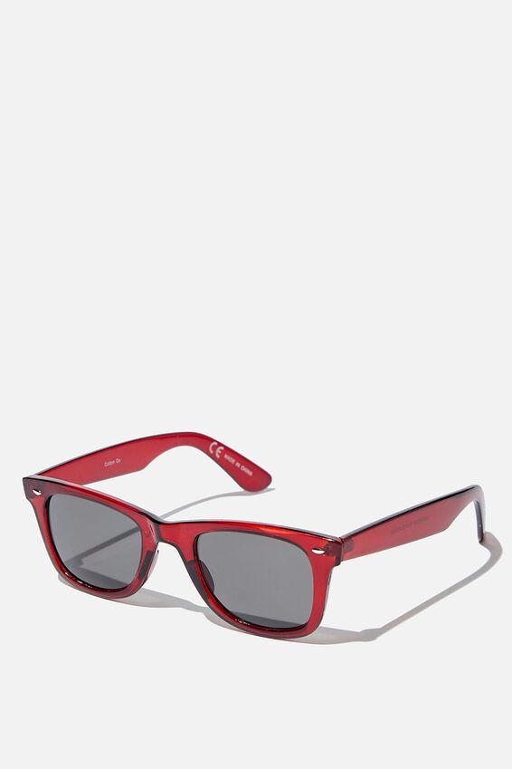 Kennedy Sunglasses, RED/SMOKE