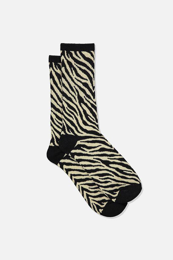 Single Pack Active Socks, SAND/BLACK/ZEBRA