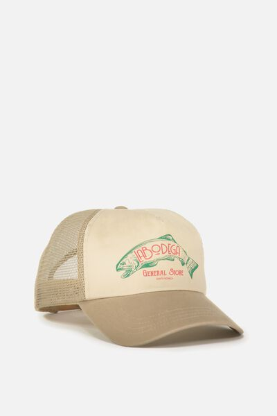 Wicked Print Trucker, WASHED SAND/LA BODEGA GENERAL STORE
