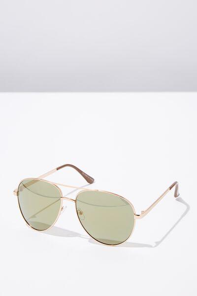 Simpson Sunglasses, GOLD/BROWN/SMK