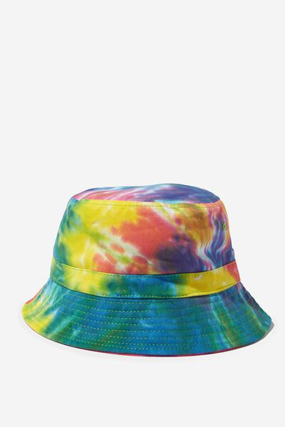 Bucket Hat, RAINBOW TIE DYE