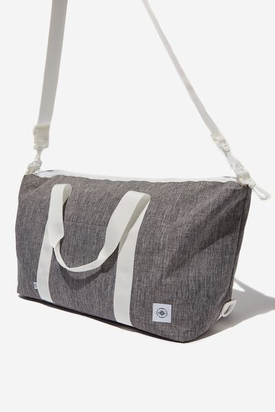 Transit Duffle Bag, GREY CROSSHATCH WITH WHITE