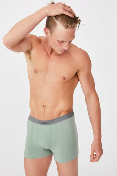 Mens Seamless Trunks, WASHED TEAL/GREY MARLE