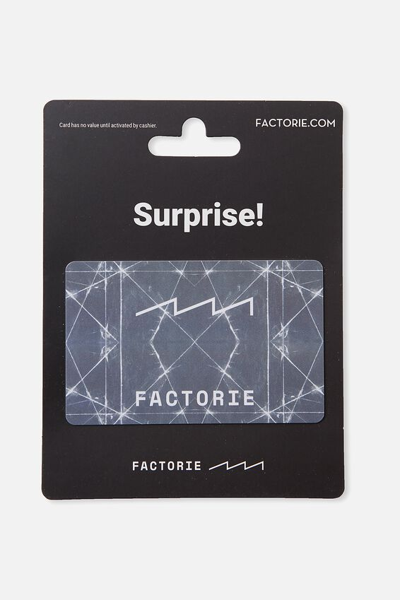 Factorie $50 Gift Card, GEOMETRIC