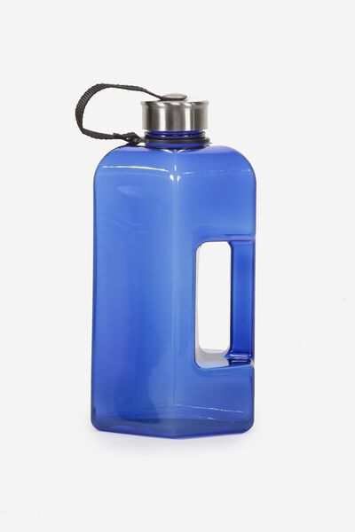 Dumbbell Drink Bottle, CLEAR BLUE