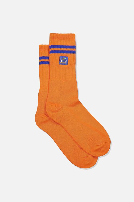 Single Pack Active Socks, LCN COK ORANGE/BLUE/FANTA