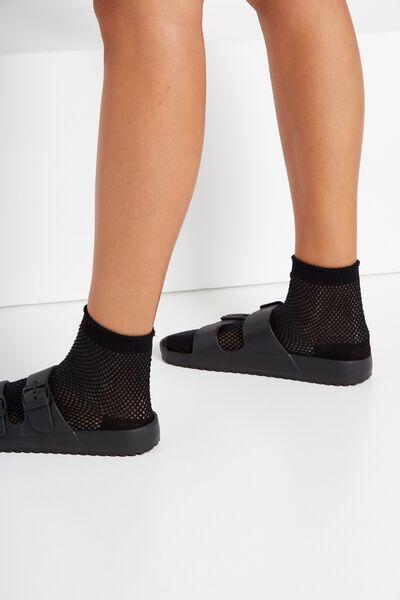 Mesh Sock, BLACK