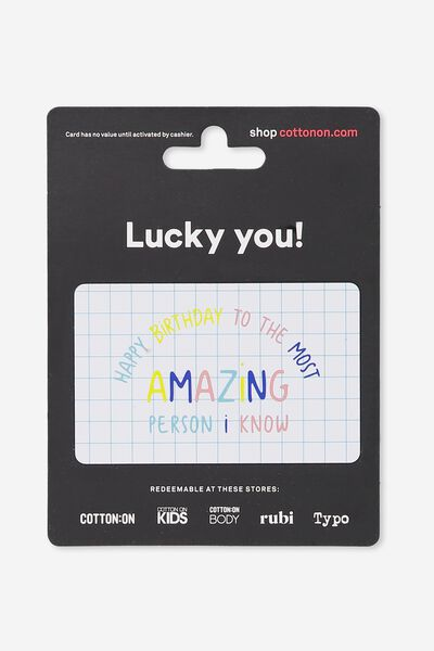 Cotton On & Co $50 Gift Card, Happy Birthday Amazing