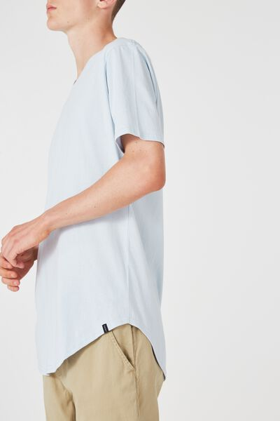 The Curved Tall Tee, HEATHER
