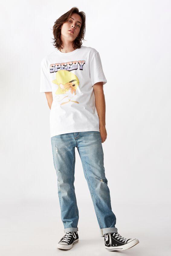 Regular License T Shirt, WHITE SPEEDY
