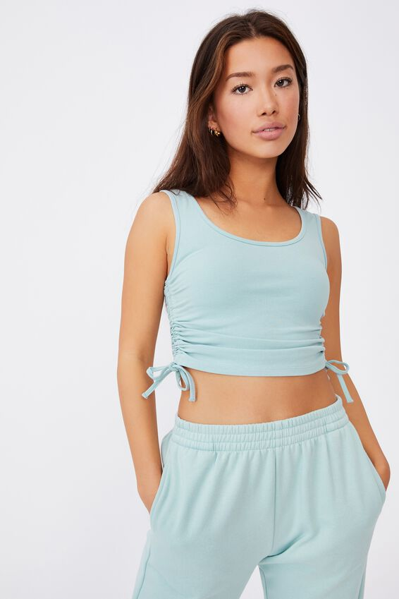 Ruched Side Seam Tank, ETHER