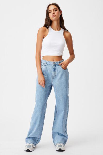 High Rise Baggy Jean, 90s BLUE