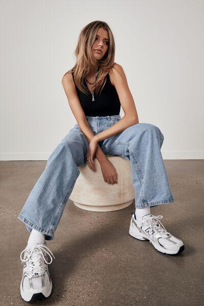 Low Rise Baggy Jean, 90 S BLUE