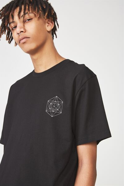 Graphic T Shirt, BLACK/HIDDEN REALMS