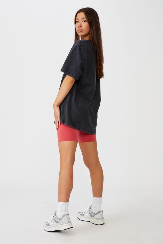 Regular License T Shirt, LCN UNI WASHED BLACK/JAWS 2