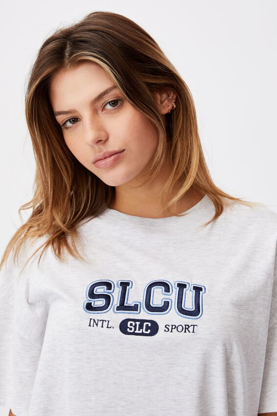 Super Relaxed Graphic Tee, SILVER MARLE/SLCU