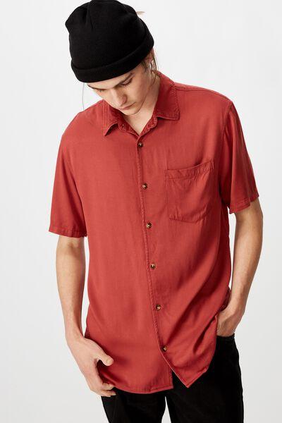 Resort Shirt, BRICK RED
