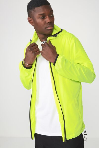 Hooded Spray Jacket, HAZARD YELLOW