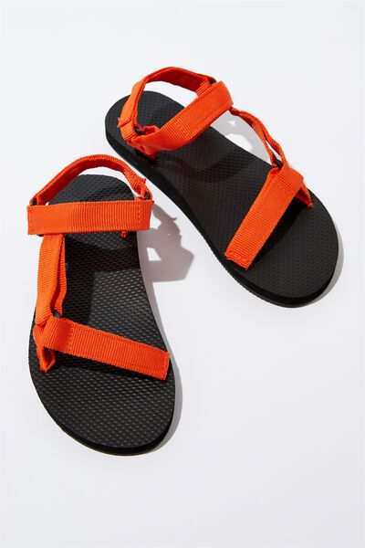 B-Utility Sandal, BLACK_ORANGE STRAP