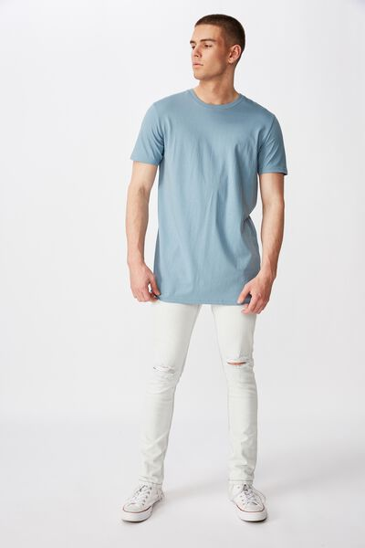 Skinny Leg Denim Jean, BLEACHED BLUE