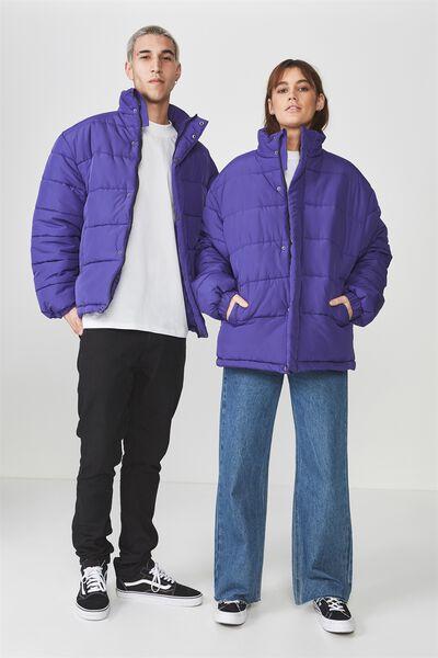 Puffer Jacket, PURPLE