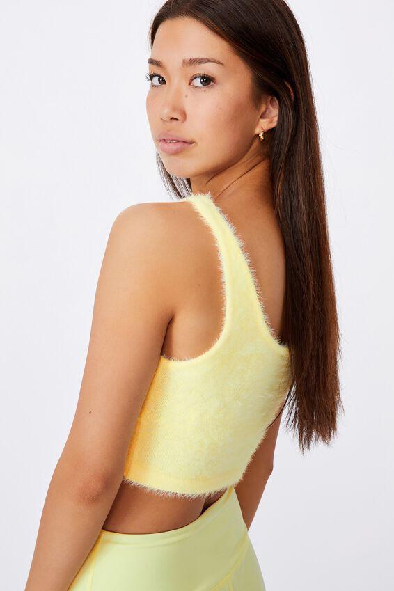 Fluffy Knit Tank, TENDER YELLOW