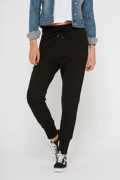 Skinny Fit Trackpant 2, BLACK