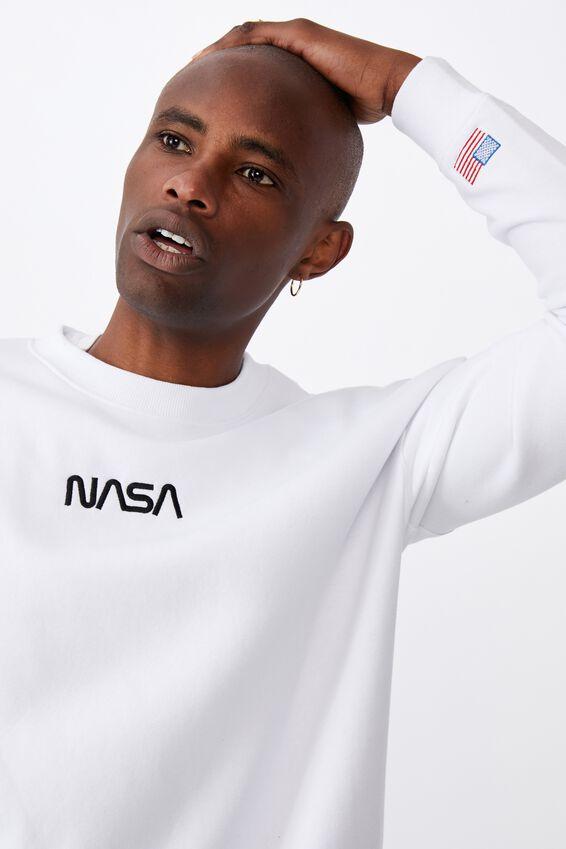 License Oversize Crew, LCN NAS WHITE/NASA