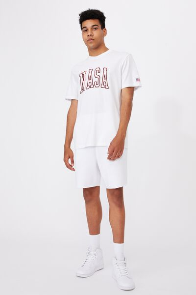 Regular Pop Culture T Shirt, LCN NAS WHITE/NASA COLLEGE
