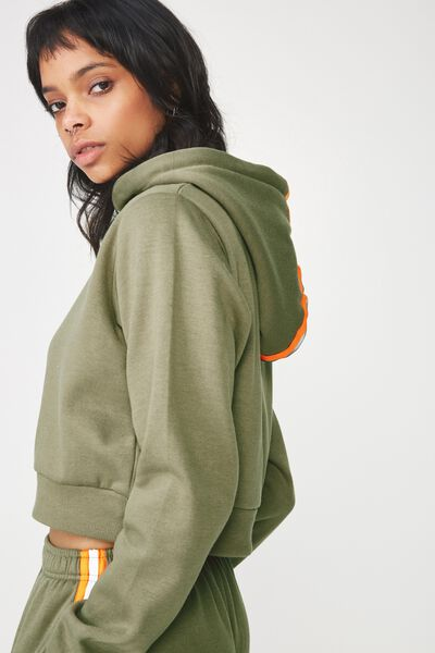 Travis Taped Hoodie, KHAKI_NEON ORANGE