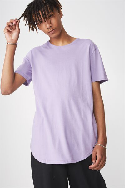Curved T Shirt, DUSTY LILAC