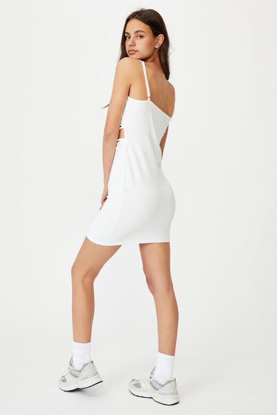 Criss Cross Front Dress, WHITE