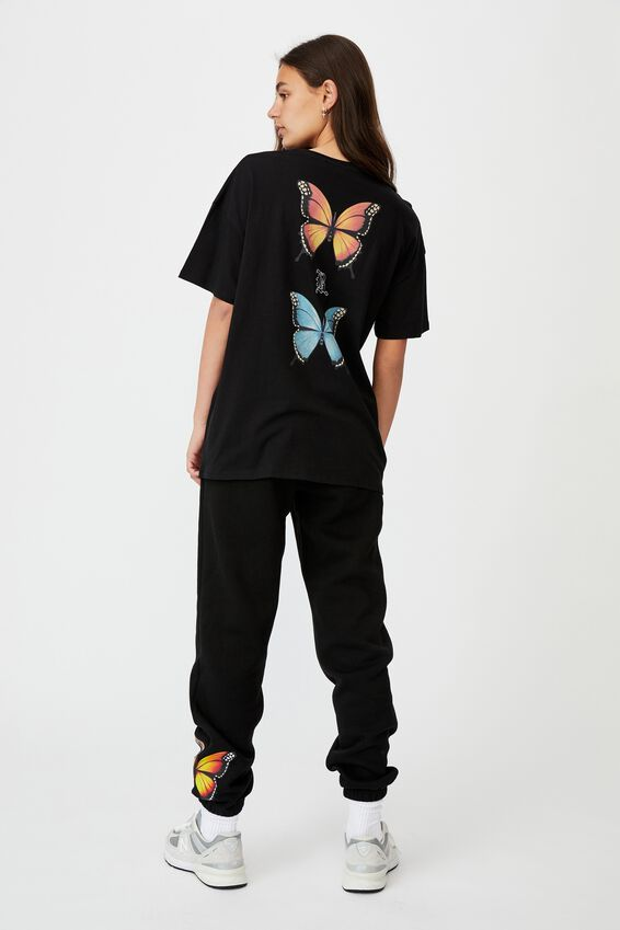 Super Relaxed Graphic Tee, BLACK/NOT A PHASE