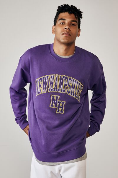 Elite Oversized Crew, PURPLE/NEW HAMPSHIRE