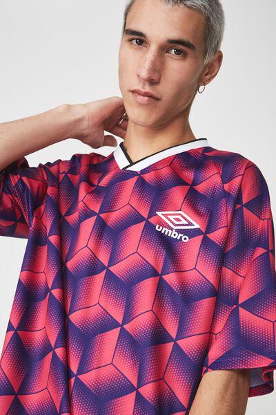 Umbro Lcn Soccer Jersey, MAGENTA MULTI PRINT