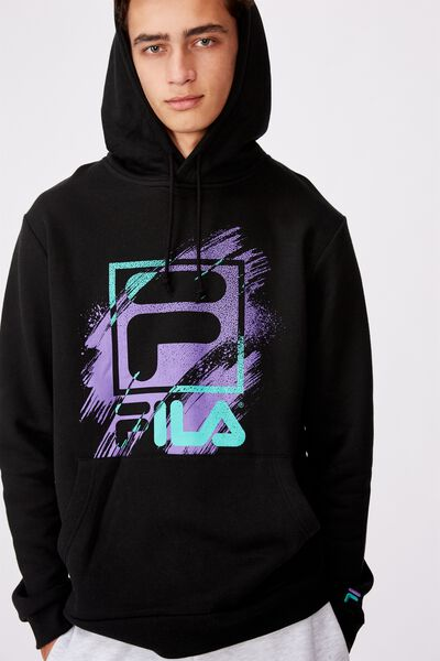 Fila Lcn Graphic Hoodie, MIDNIGHT BLACK/STORM