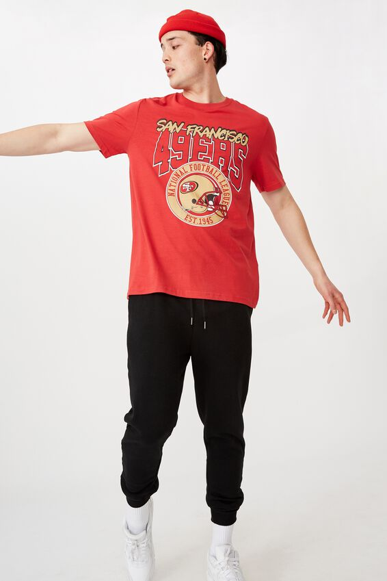 Regular License T Shirt, RED/SF 49ERS
