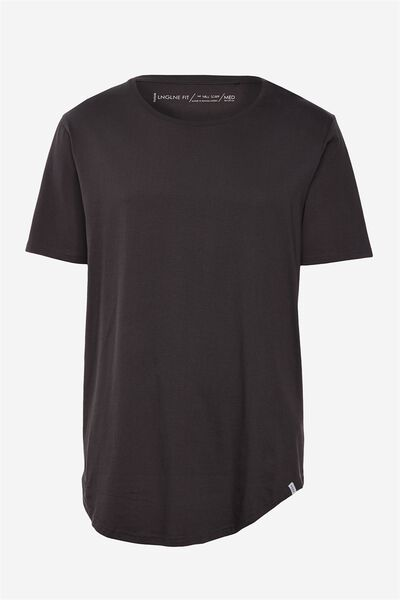 Curved T Shirt, GRAPHITE GREY
