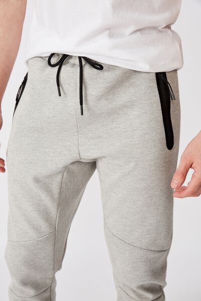 Tech Track Pant, LIGHT GREY MARLE