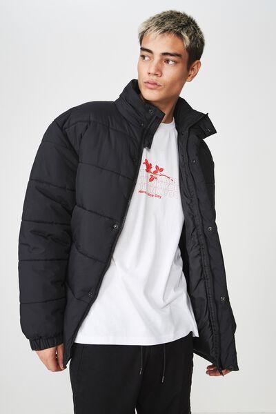 Puffer Jacket, BLACK