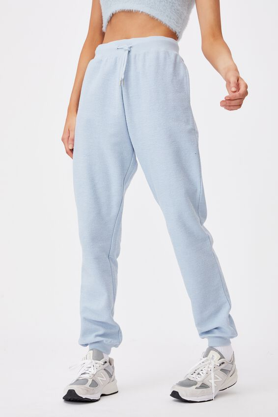 Reverse French Terry Slim Fit Trackpant, SKYWAY BLUE