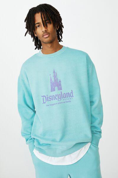 Disney License Crew, LCN DIS WASHED COOL MINT/DISNEY CASTLE