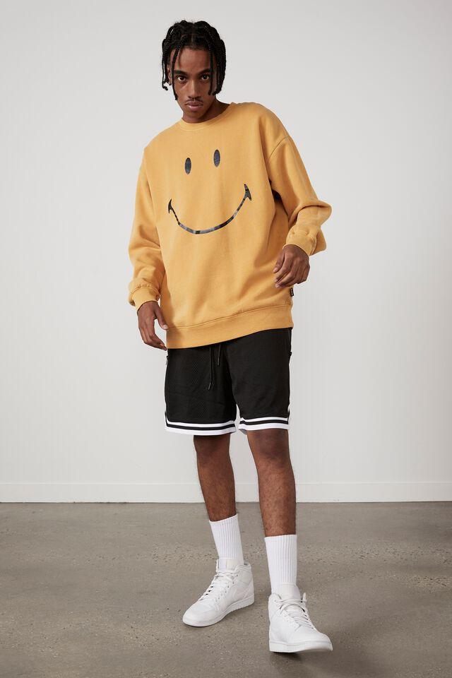 Smiley Oversized Crew, LCN SMI GOLDEN ROD/SMILEY SIMPLE