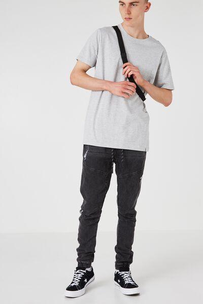 The Knit Dart Jogger, BLACK