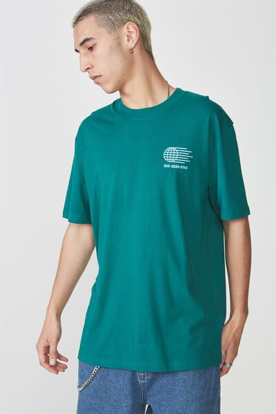 Graphic T Shirt, ALPINE GREEN/GLOBE CALLER