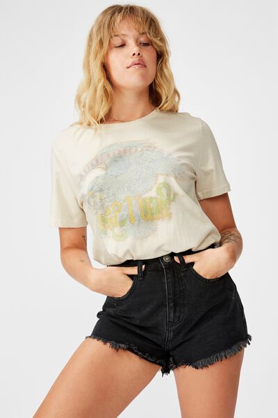 Relaxed Graphic T Shirt, WASHED IVORY/RAPTURE