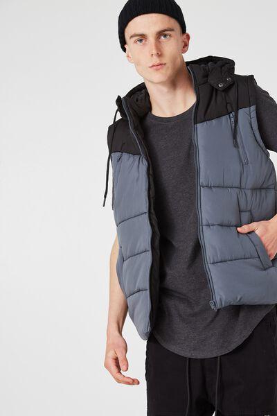 Summitt Puffer Vest, TURBULENCE/BLACK