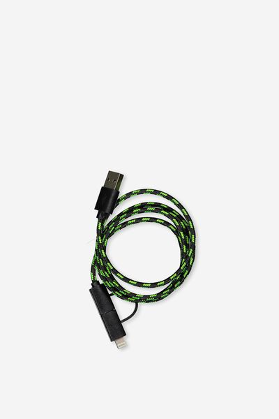 Phone Charging Cord, BLACK_LIME
