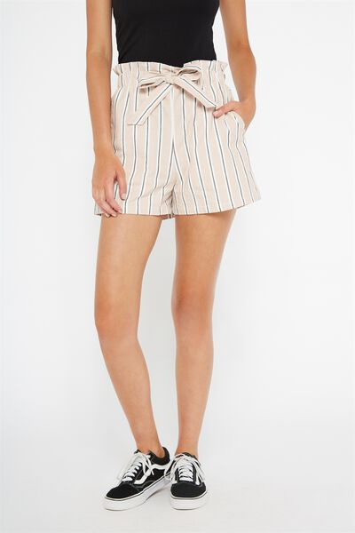Paperbag Short (Woven), RETRO STRIPE